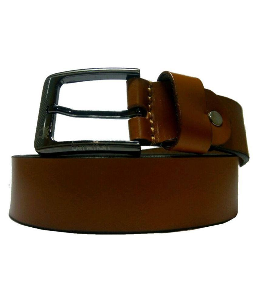 United Colors of Benetton Imported Brown Leather Casual Belts