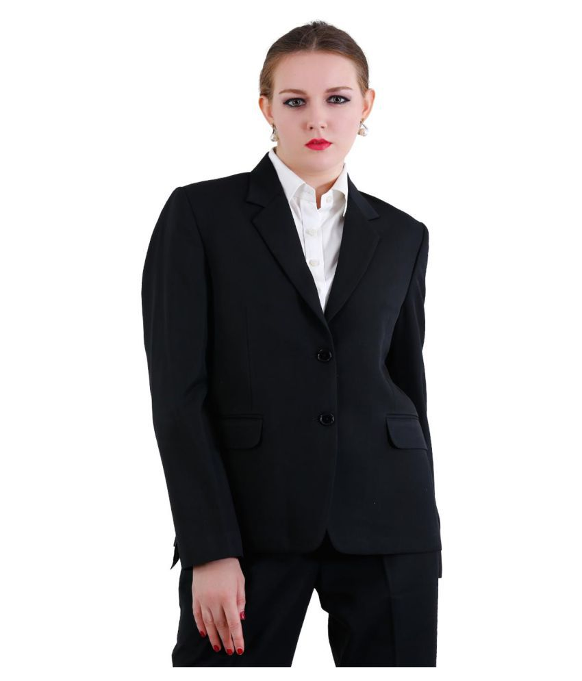 La Mode Black Solid Formal Waistcoats
