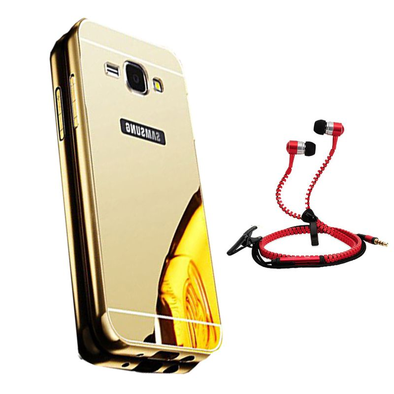 Mirror Back Cover For Samsung Galaxy Grand Prime + Zipper earphone free by Style Crome.