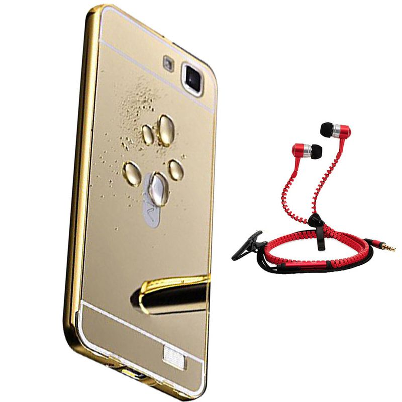Mirror Back Cover For Vivo V1 + Zipper earphone free by Style Crome.