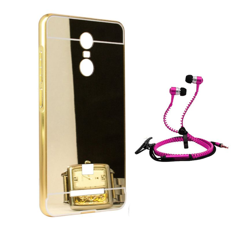 Mirror Back Cover For Xiaomi Redmi Note 3 + Zipper earphone free by Style Crome.