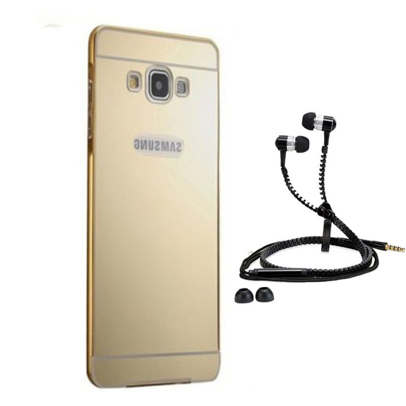 Mirror Back Cover For Samsung Galaxy S5 + Zipper earphone free by Style Crome.