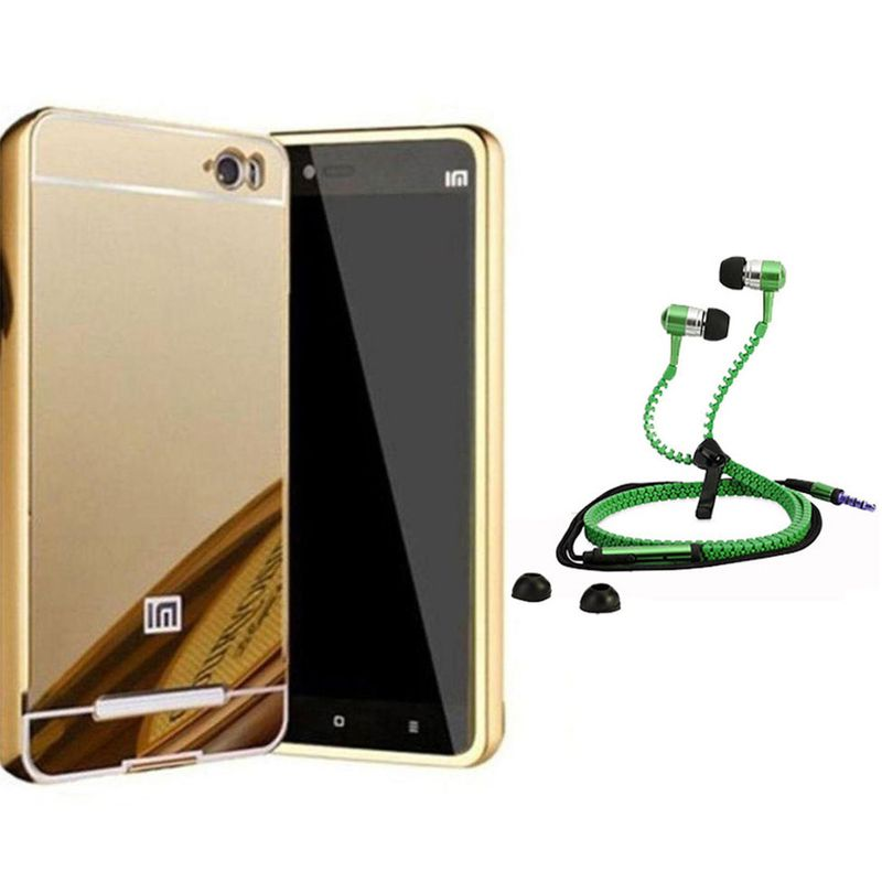 Mirror Back Cover For Xiaomi Redmi Mi4i + Zipper earphone free by Style Crome.