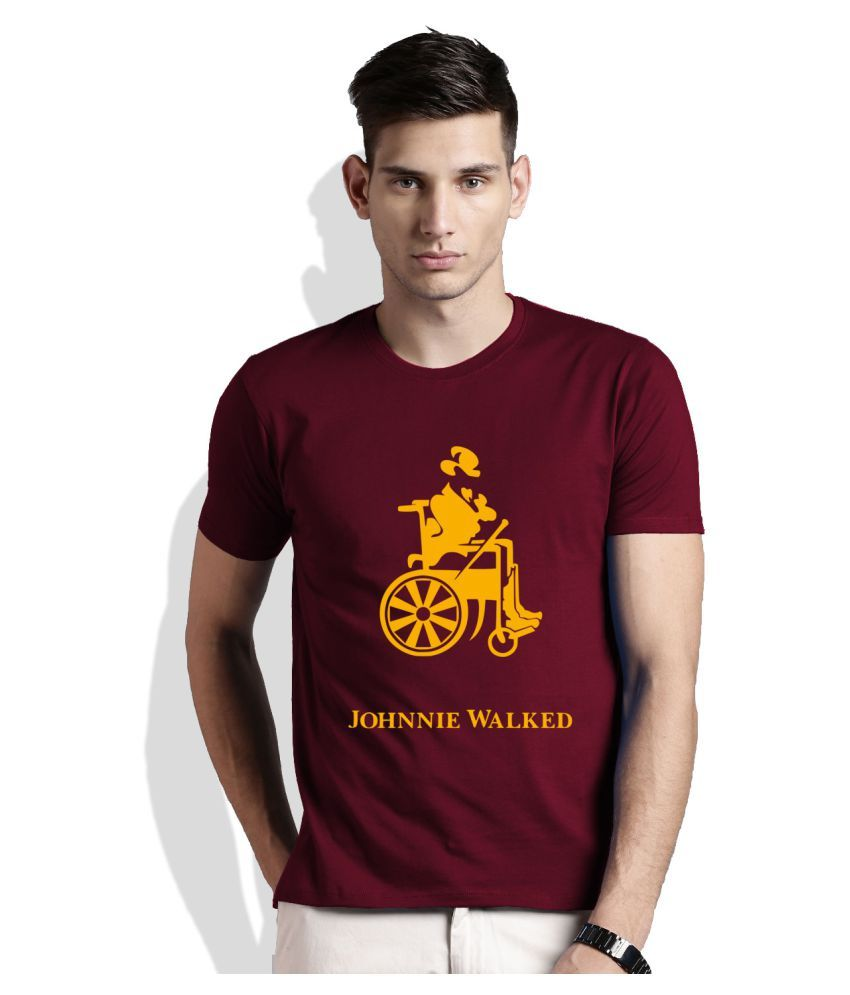 Artywear Maroon Round T-Shirt