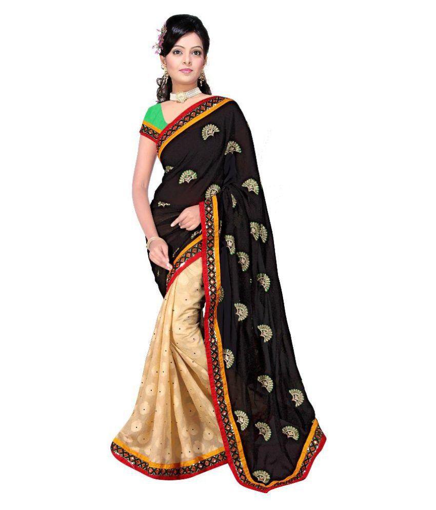 Achhat Ethnic Multicoloured Georgette Saree