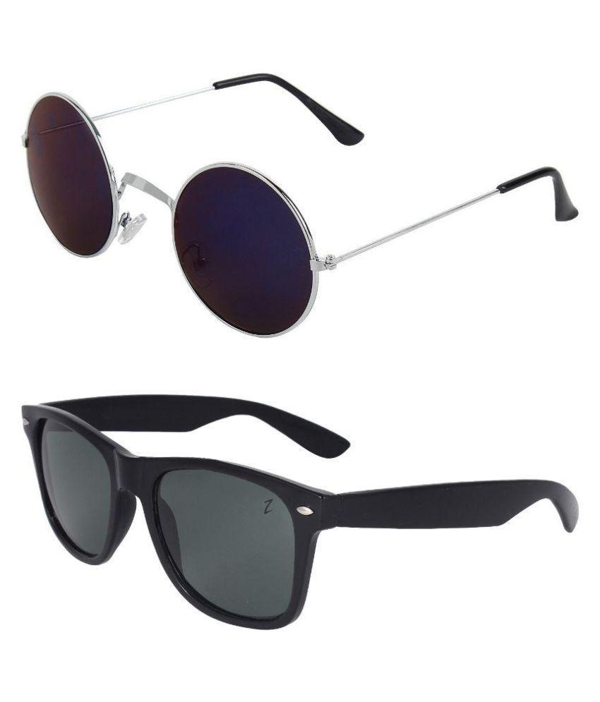 Zyaden Multicolor Wayfarer Sunglasses ( Com-207 )