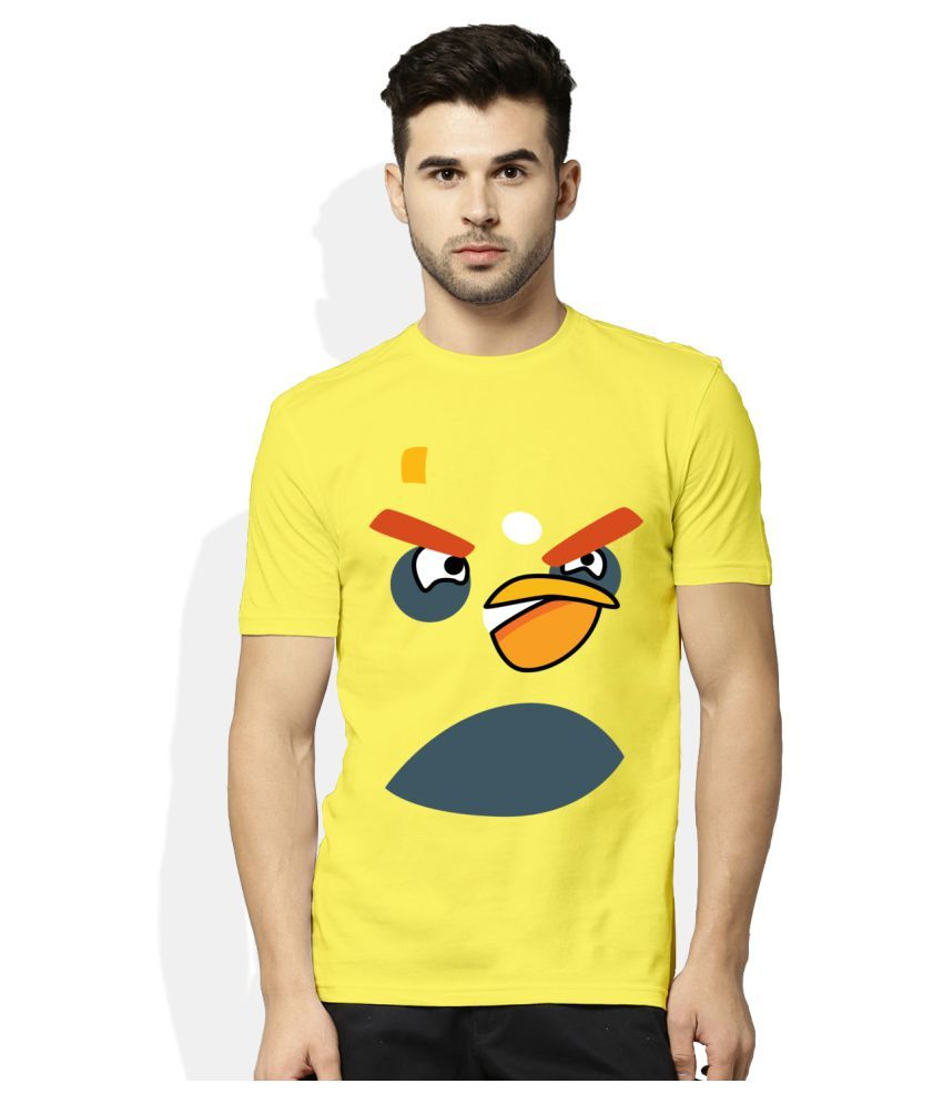Artywear Yellow Round T-Shirt