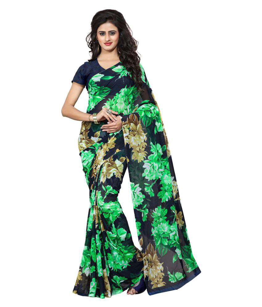 Fabdeal Multicoloured Georgette Saree