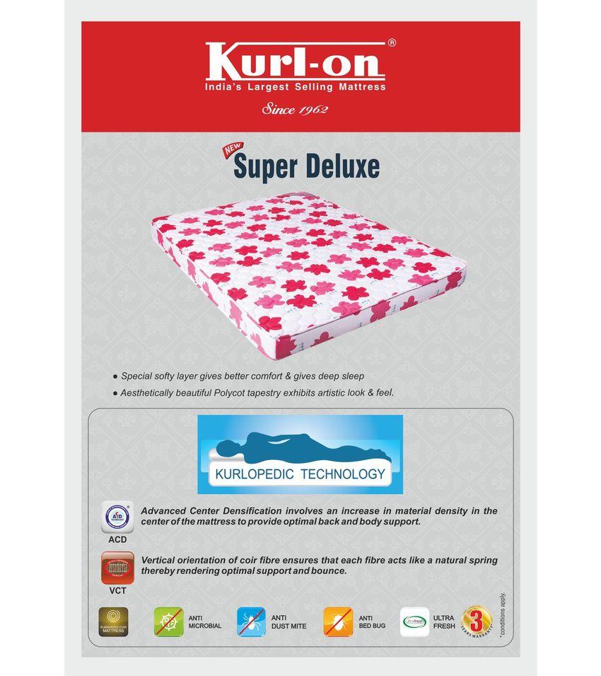 kurl on new super delux 5 inch queen size coir mattress 72x60x5