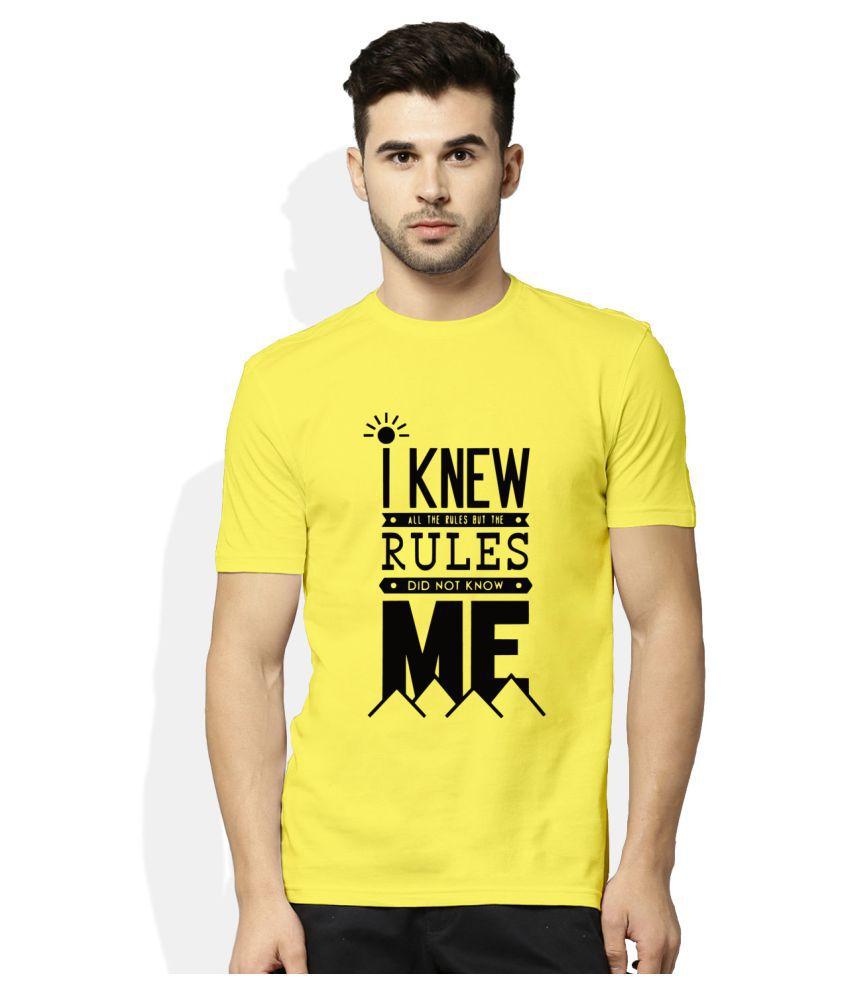 Artywear Yellow Round T-Shirt