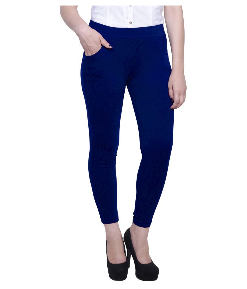 Baremoda Blue Cotton Lycra Jeggings