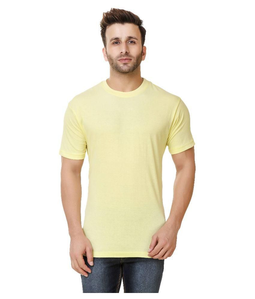 Austin-M Yellow Round T-Shirt Pack of 3