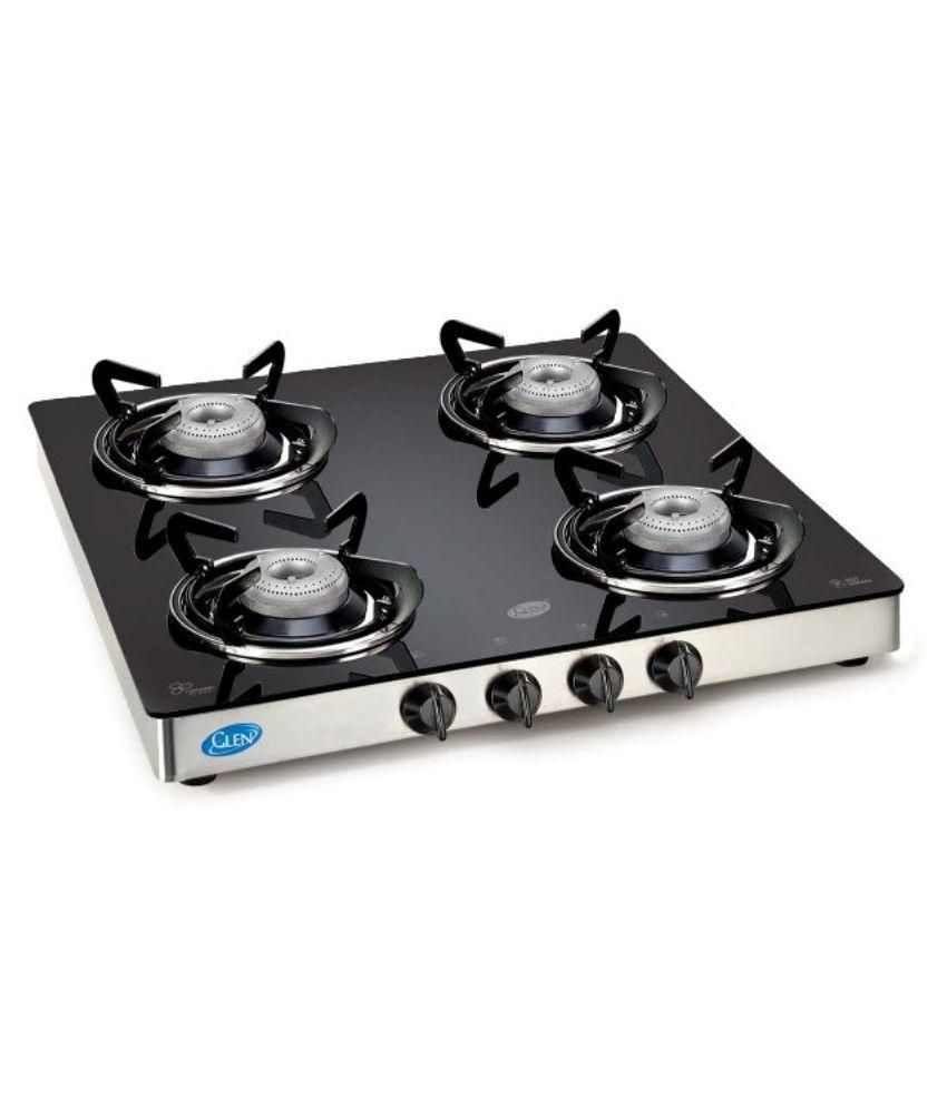 Gas Cooktop Glass Glen 1043 Gt 4 Burner Manual Gas Stove Price In India Buy Glen