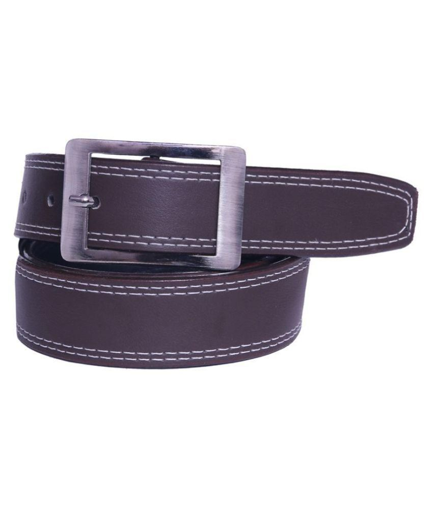 Coovs Brown Faux Leather Formal Belts