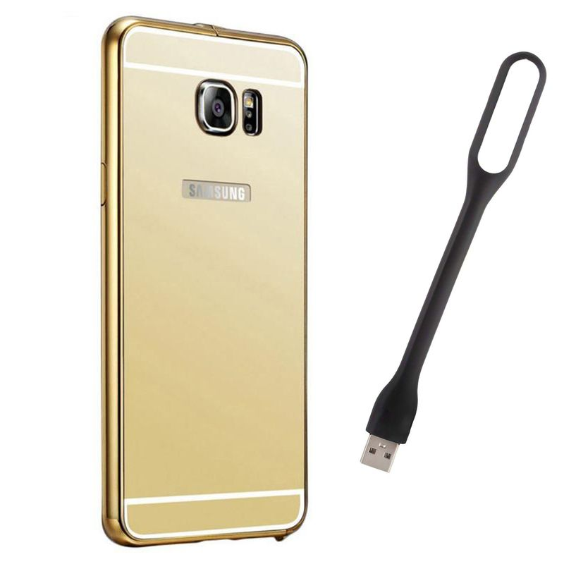 Mirror Back Cover For Samsung Galaxy S6 + Usb Light free by Style Crome.