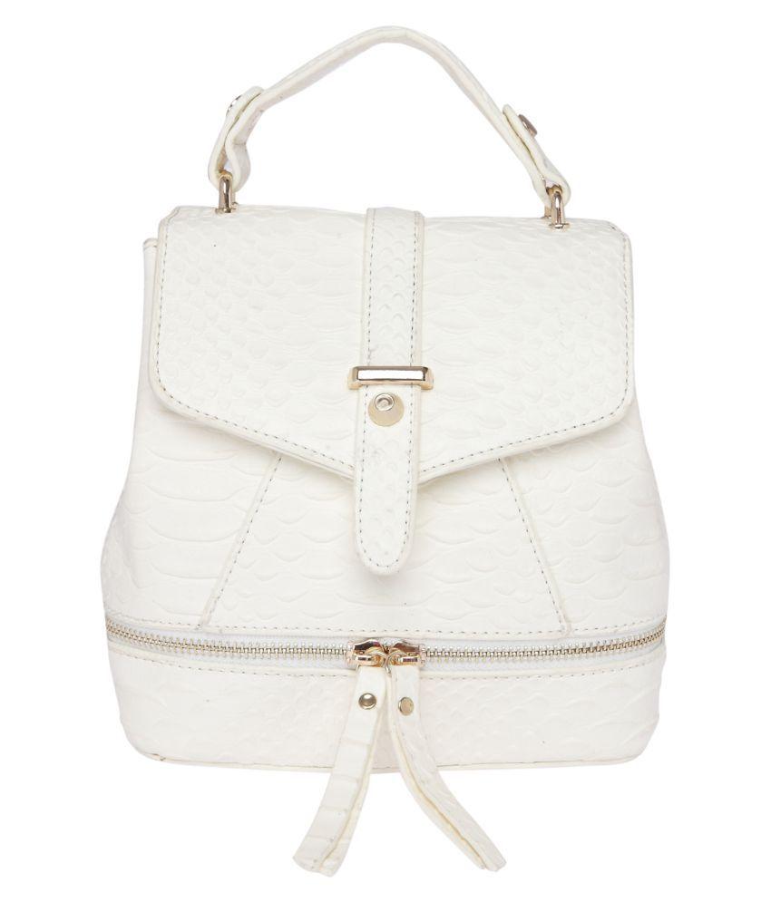 Fur Jaden White Faux Leather Sling Bag