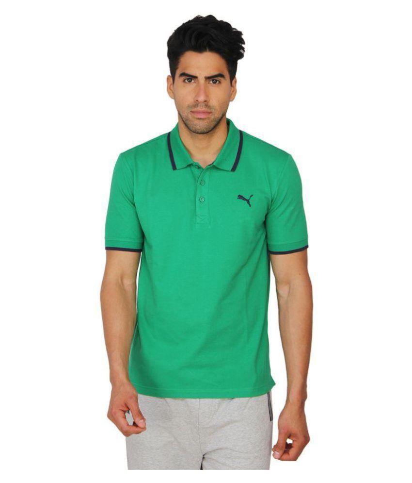 Puma Mens Solid Green T-shirt