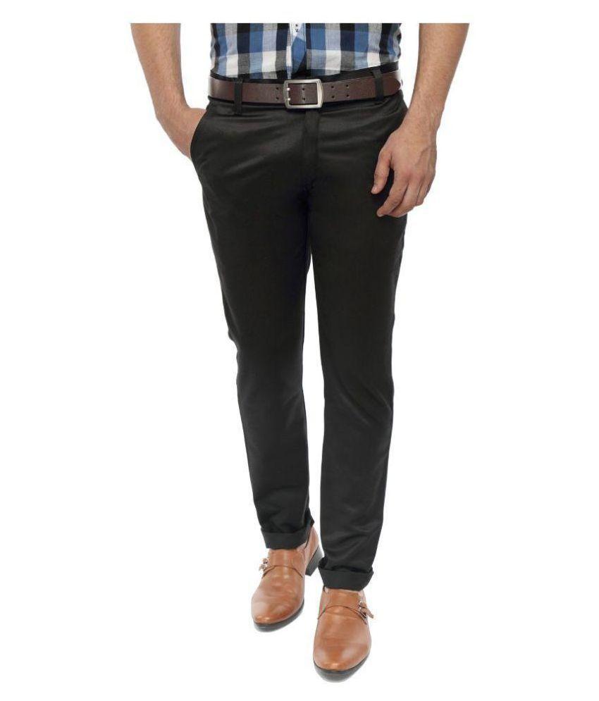 SS Black Slim Flat Trouser