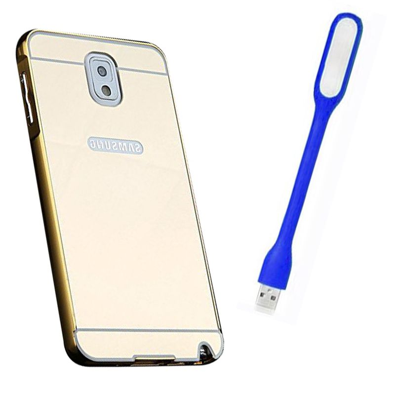 Mirror Back Cover For Samsung Galaxy Note 3 + Usb Light free by Style Crome.