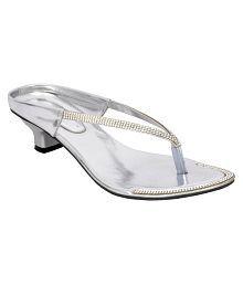 Altek Silver Block Heels