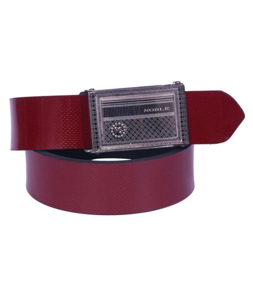 Coovs Maroon PU Formal Belts