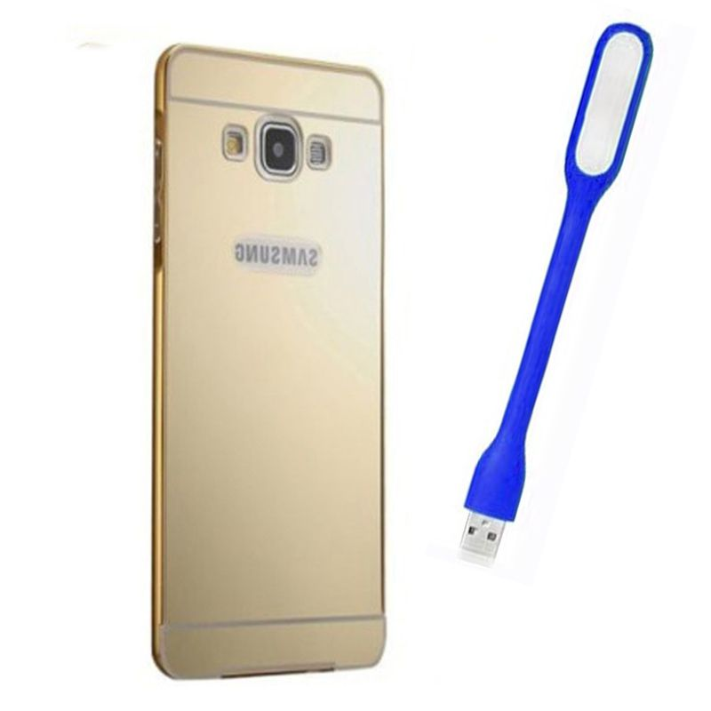 Mirror Back Cover For Samsung Galaxy S5 + Usb Light free by Style Crome.
