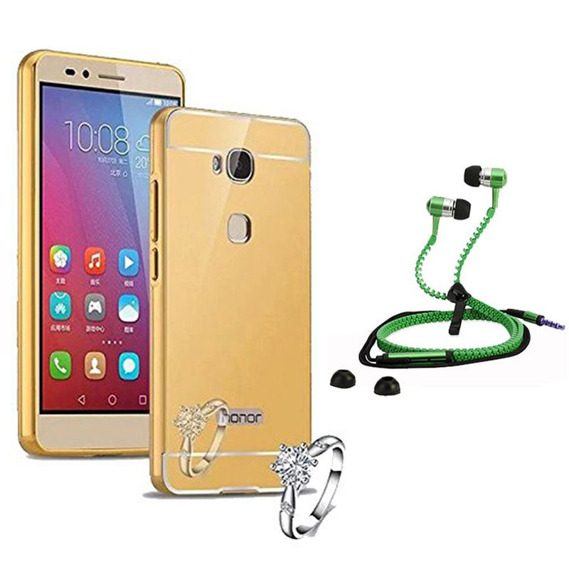 Mirror Back Cover For Huawei Honor 5X + Zipper earphone free by Style Crome.