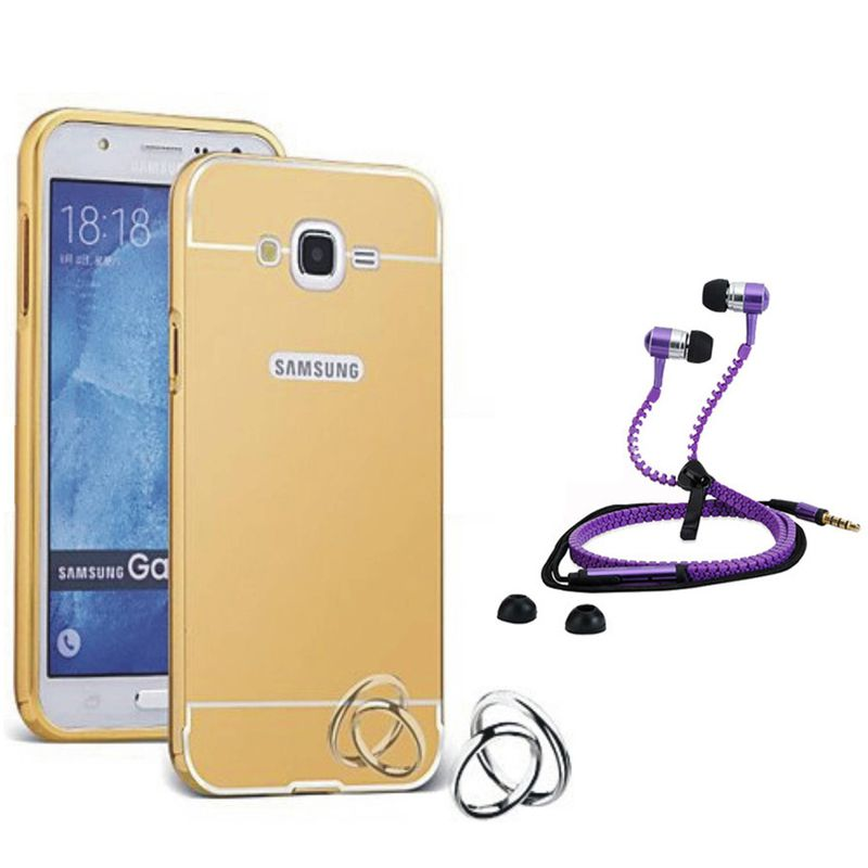 Mirror Back Cover For Samsung Galaxy A8 + Zipper earphone free by Style Crome.