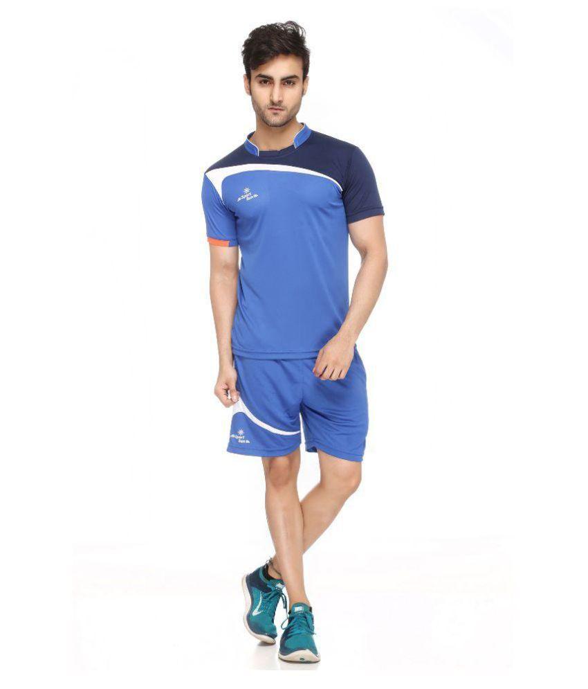 Sport Sun Royal Blue Polyester Shorts and T-Shirt