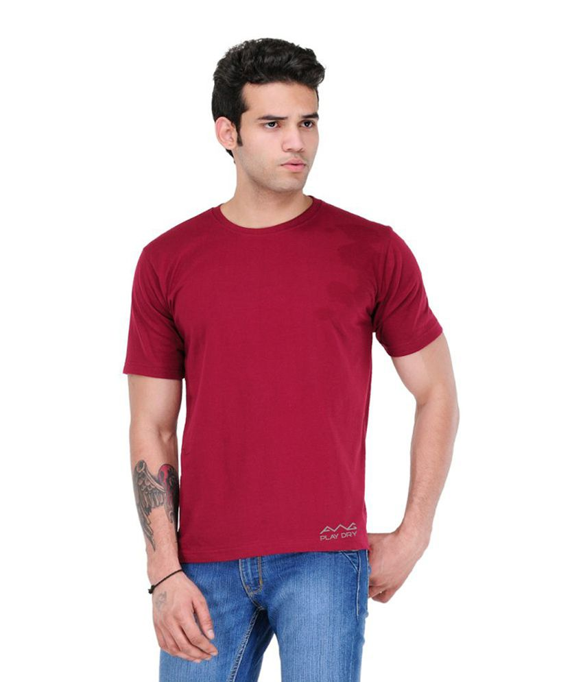 AWG Maroon Round T-Shirt
