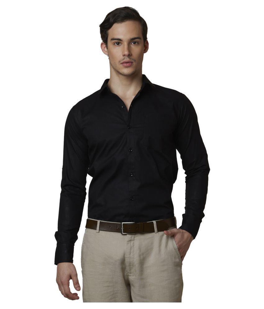 Lisova Black Formal Slim Fit Shirt