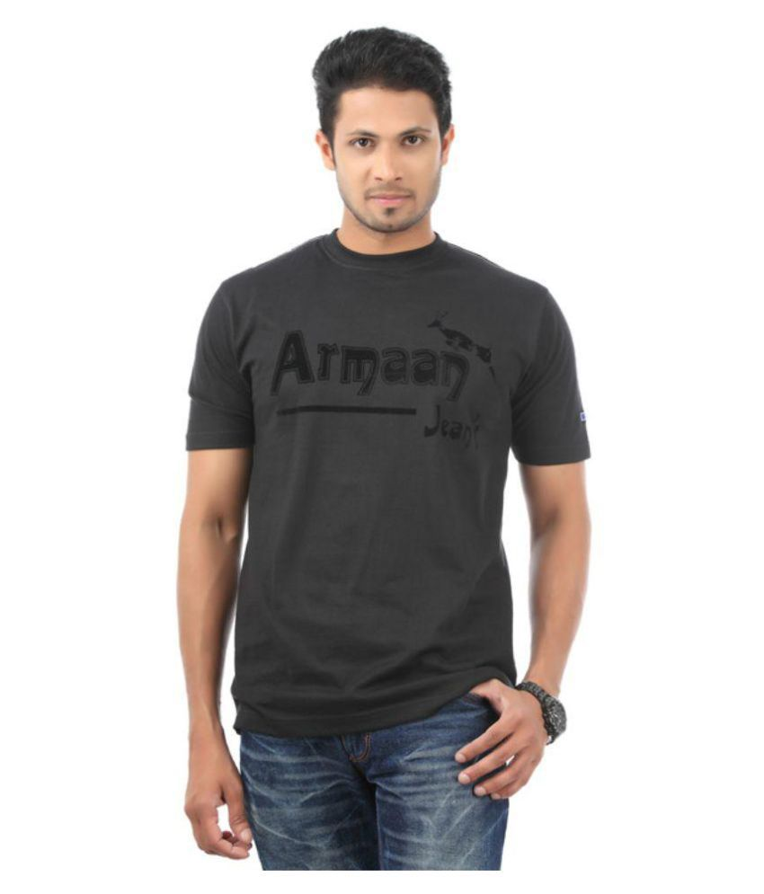 Armaan Jeans Black Round T-Shirt