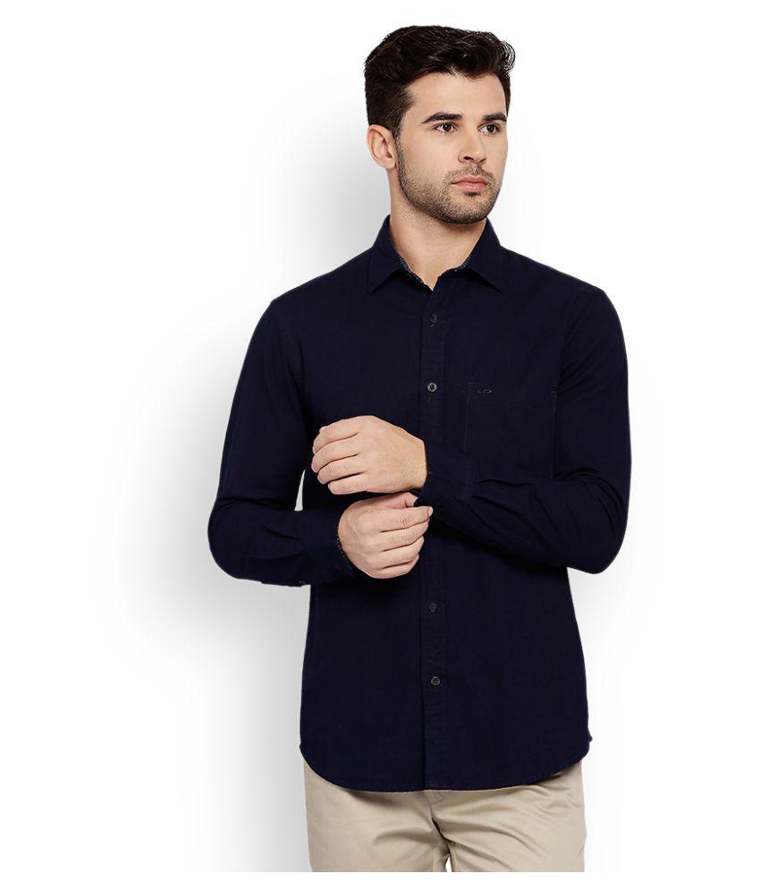 Colorplus Navy Formal Regular Fit Shirt