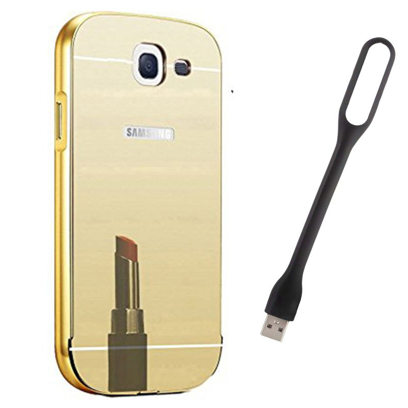 Mirror Back Cover For Samsung Galaxy J5 (2016) + Usb Light free by Style Crome.