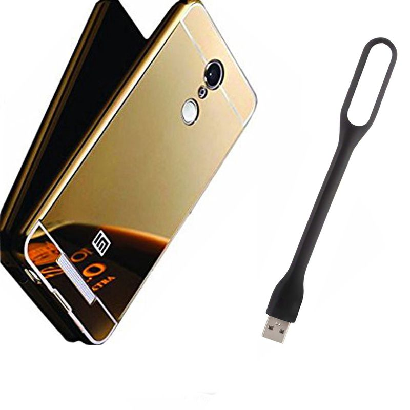 Mirror Back Cover For Xiaomi Mi5 + Usb Light free by Style Crome.