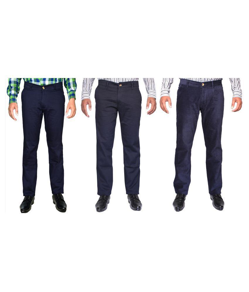 CAY Multicolored Slim Flat Trouser