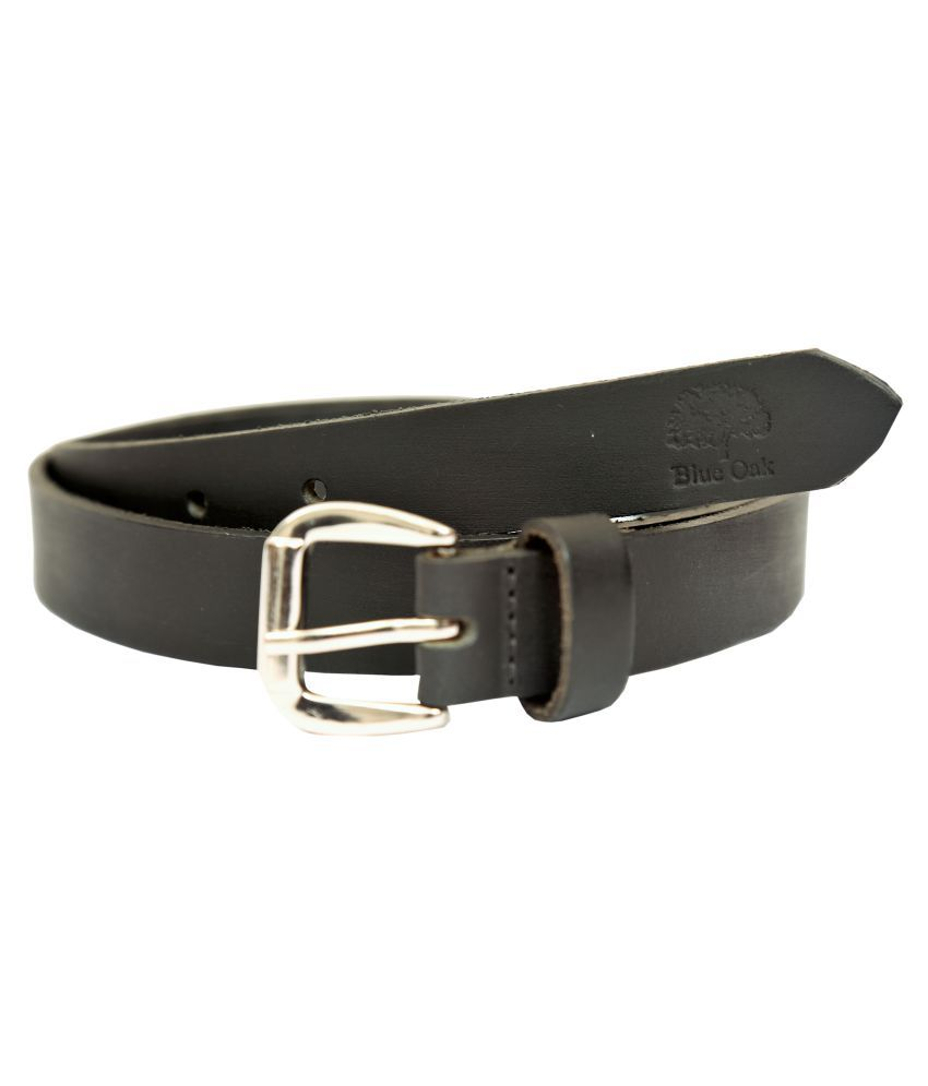 Blue Oak Black Leather Casual Belts