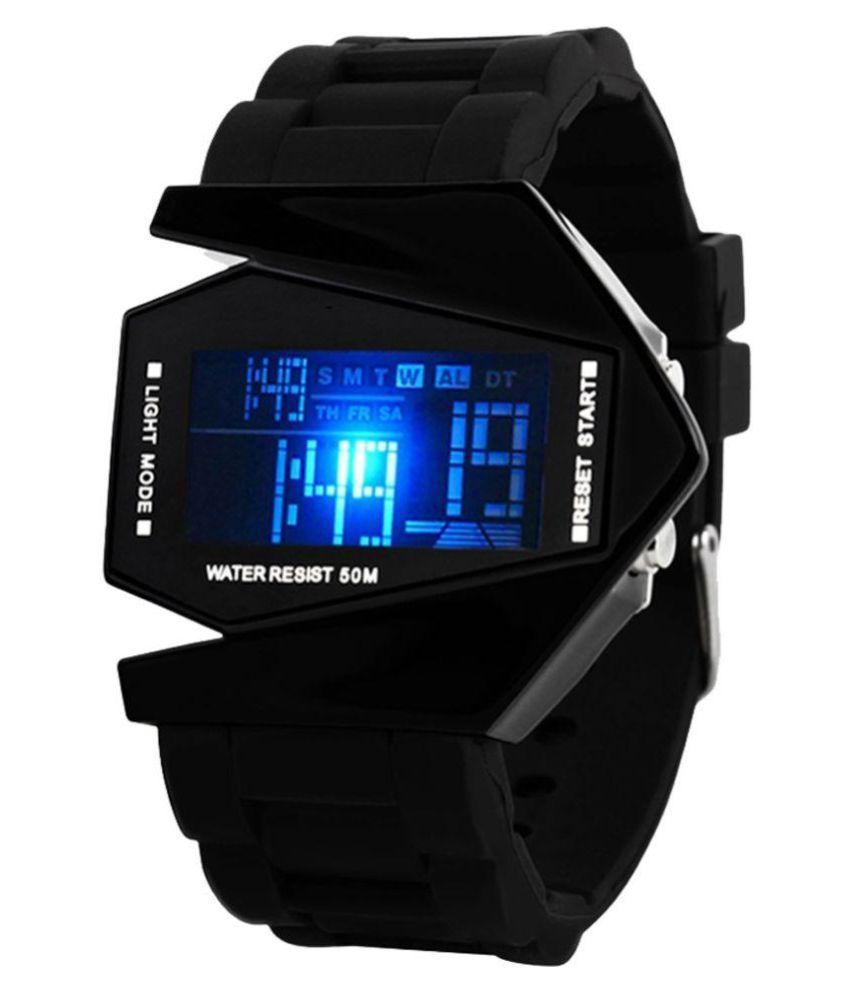 DCMR Enterprise Black PU Analog Watch Price in India: Buy ...