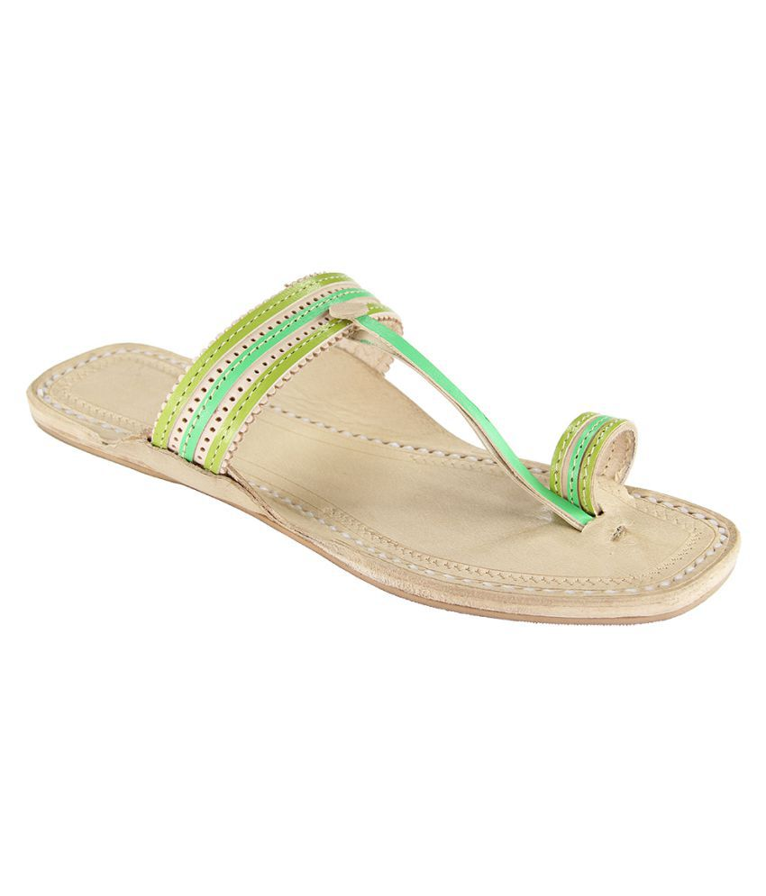 Ekolhapuri Multi Color Flat Ethnic Footwear