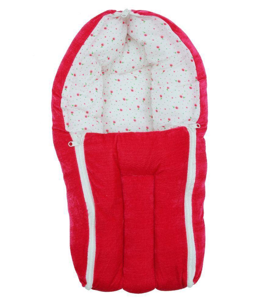 FabSeasons Red Cotton Baby Sleeping Bag