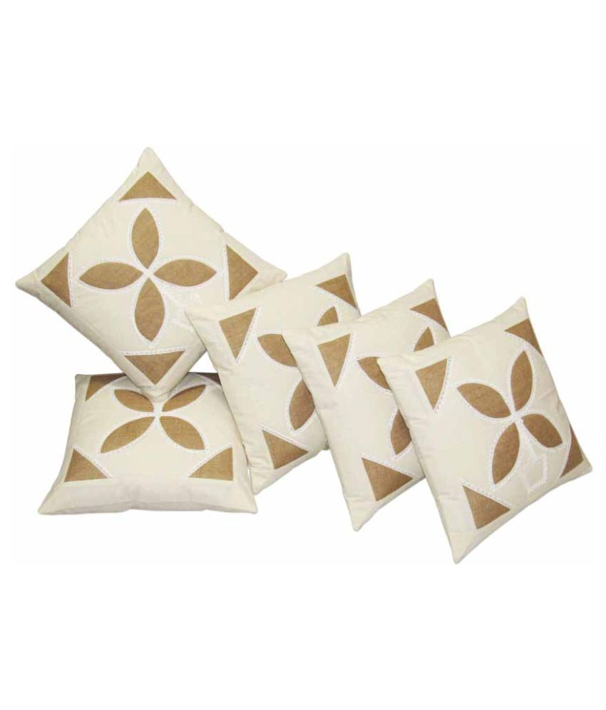 Hemden Set of 5 Cotton Cushion Covers