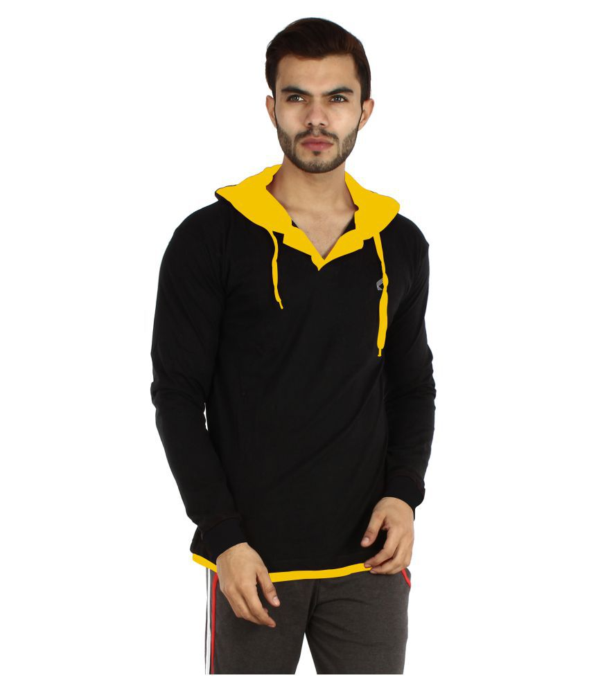 V3Squared Black Hooded T-Shirt