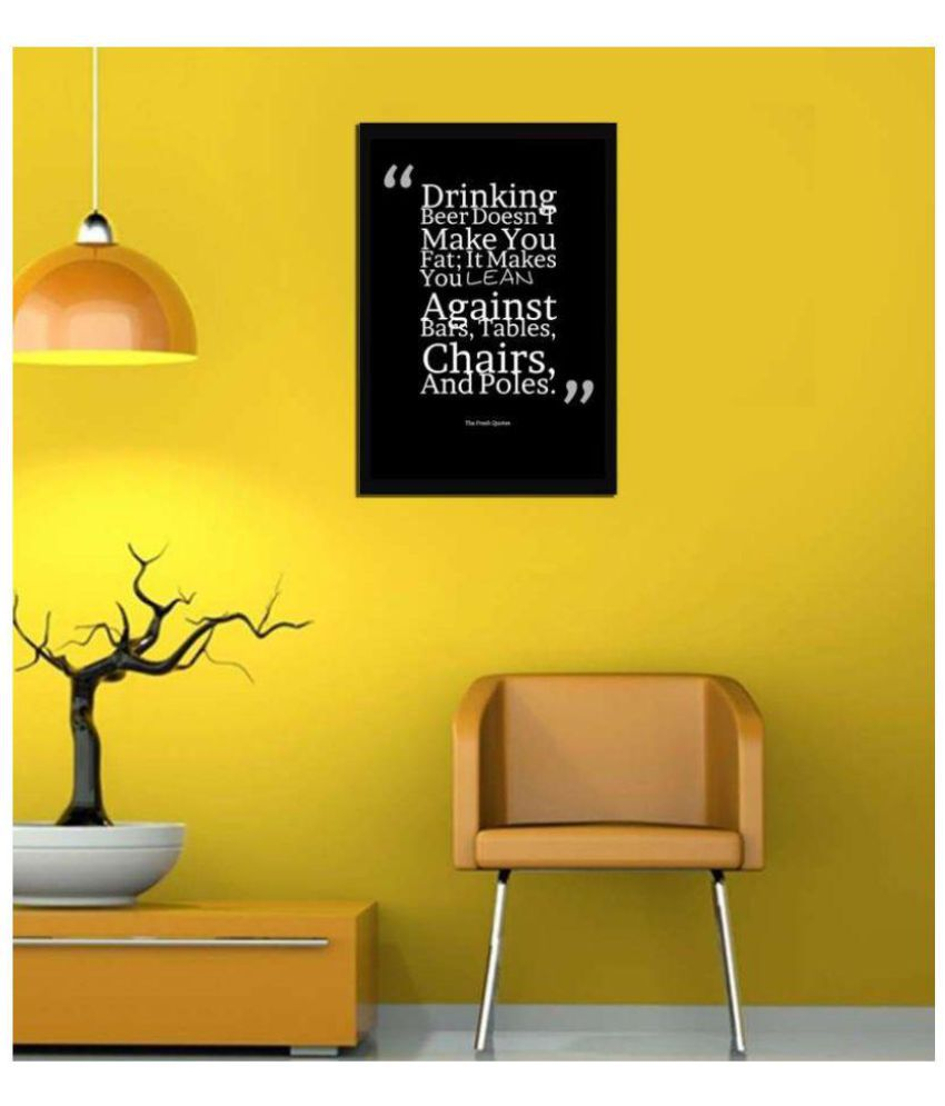 VPH whisky quotes for bar Wood Art Prints With Frame Single Piece