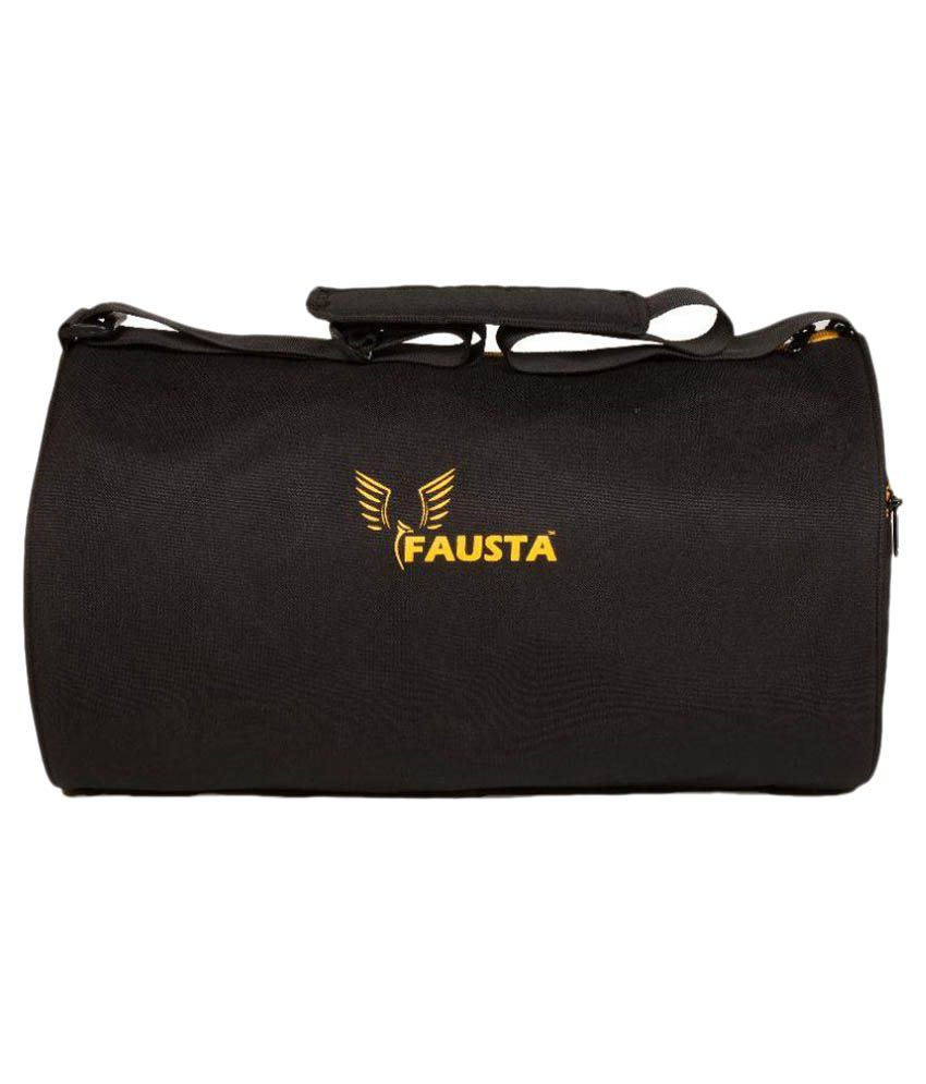 Fausta Black Gym Bag
