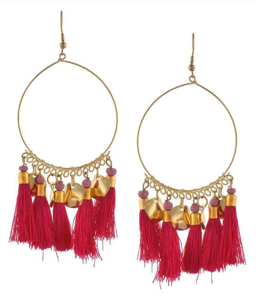 Zephyrr Red Hanging Earrings