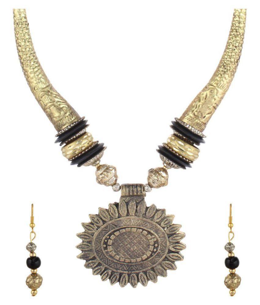 Arittra Golden Necklace Set