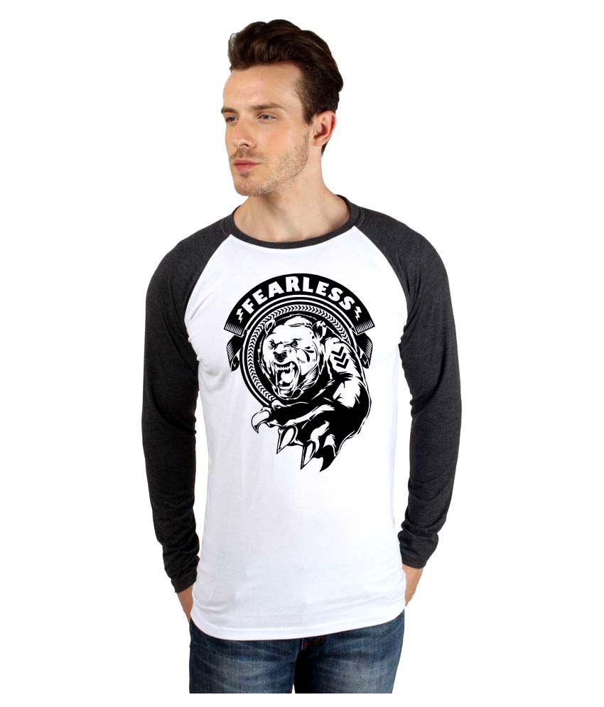 Say It Loud White Round T-Shirt