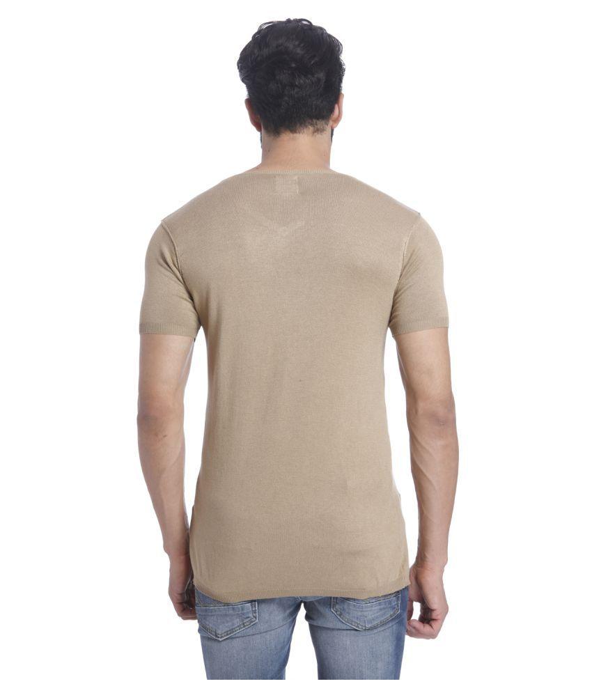 fed8aae065848a Jack   Jones Brown V-Neck T-Shirt - Buy Jack   Jones Brown V-Neck T ...