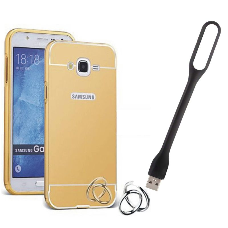 Mirror Back Cover For Samsung Galaxy E7 + Usb Light free by Style Crome.