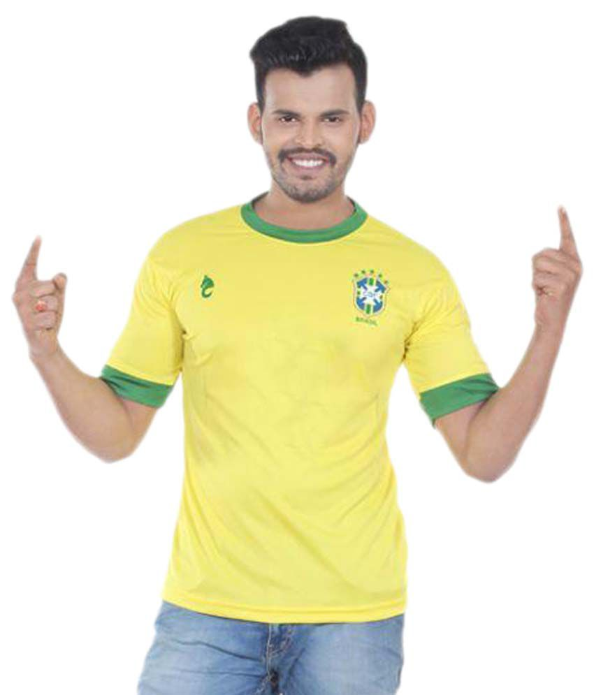 Bloomun Yellow Polyester T-Shirt Single Pack